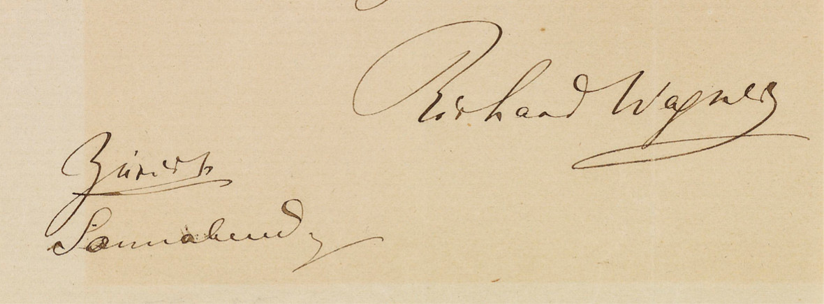 Wagner's signature on a letter